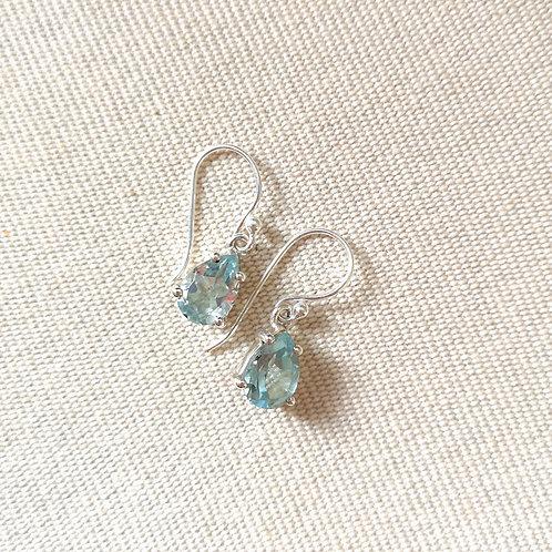 SIREN Blue Topaz Drop Earrings
