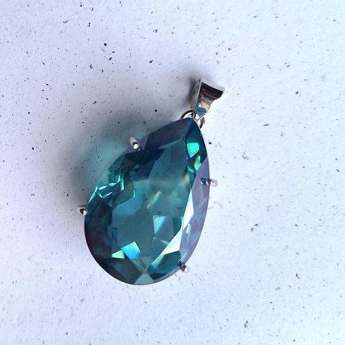 DOLPHIN Aquamarine Quartz Pendant