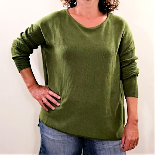 GINGER TOBY Short Button Knit - Green