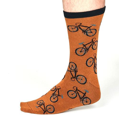 THOUGHT Men's Bike Bamboo Socks