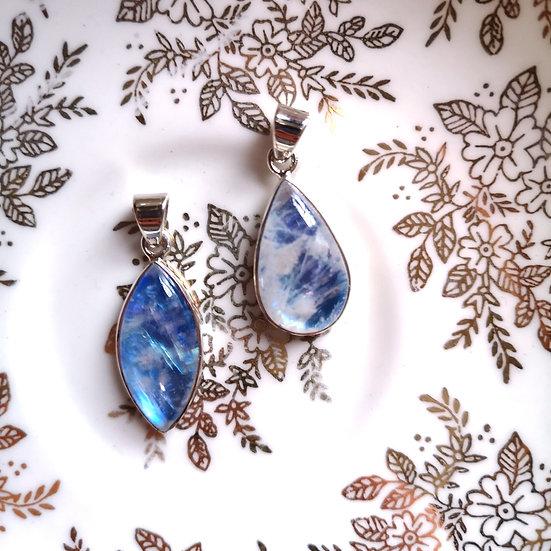 DOLPHIN Peardrop Blue Moonstone Pendant