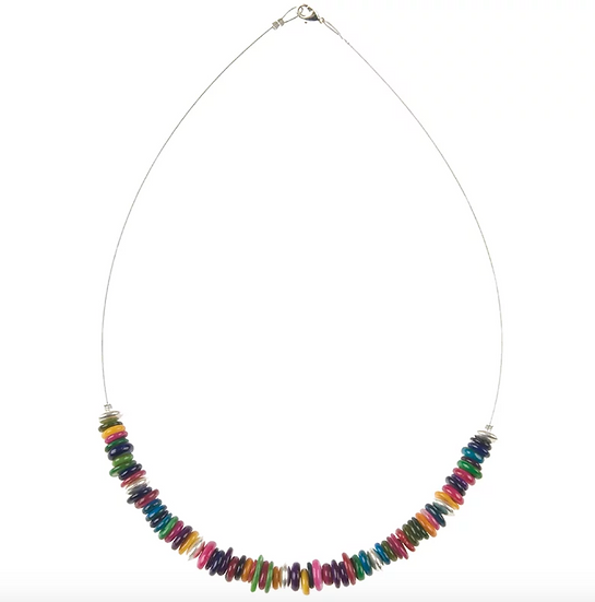 CARRIE ELSPETH Rainbow Shell Necklace