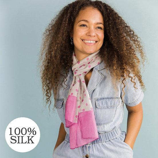 POM Silk Polka Dot Scarf
