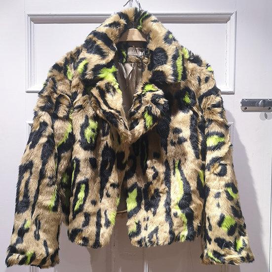 JAYLEY Leopard Print Short Coat