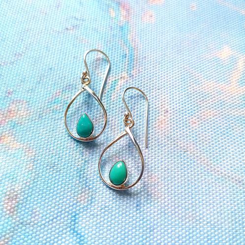 SIREN Turquoise Pear Drop Earrings