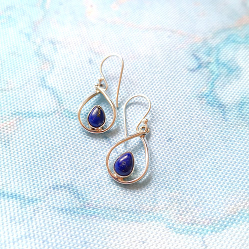 SIREN Lapis Pear Drop Earrings