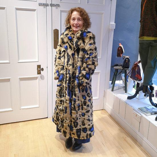 JAYLEY Leopard Print Long Coat