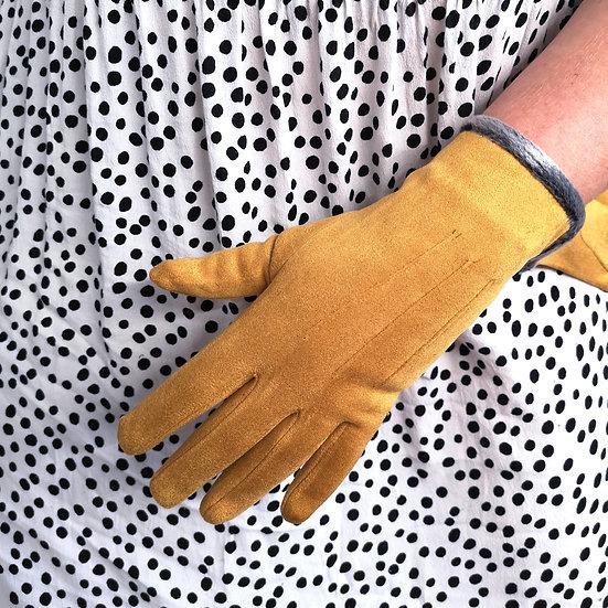 PURE Faux Fur Trim Gloves
