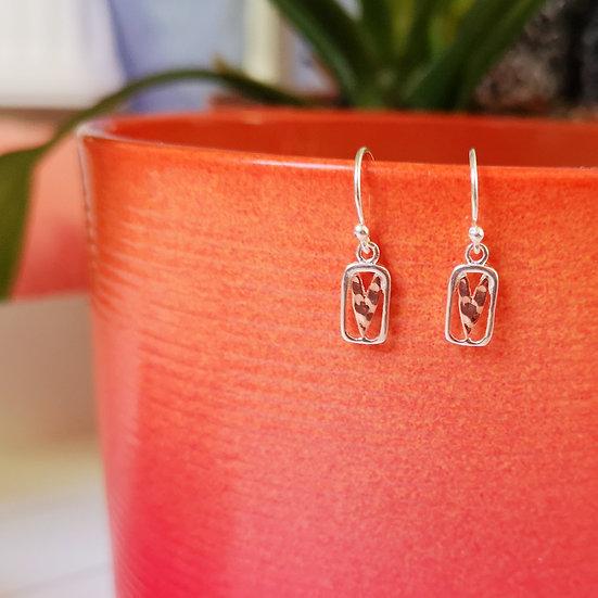 SEA GEMS Gold Heart Earrings
