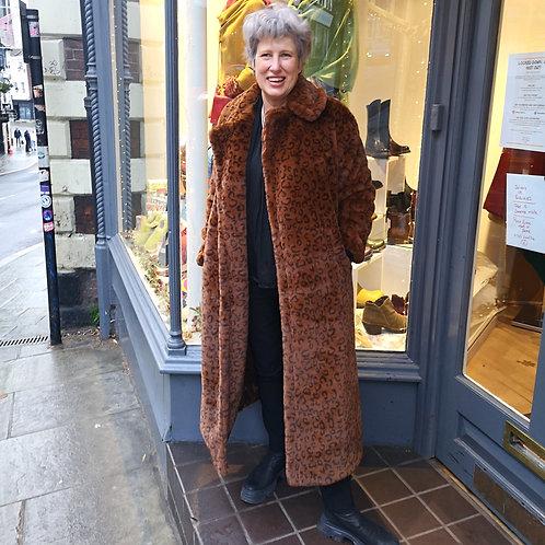 JAYLEY Long Luxe Leopard Coat