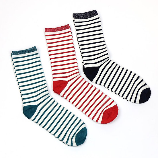 POM Striped Socks Trio