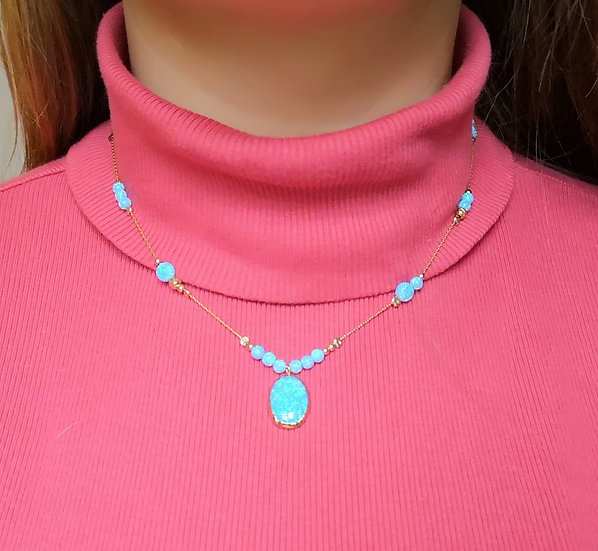 YARON MORHAIN Opal Bead Necklace