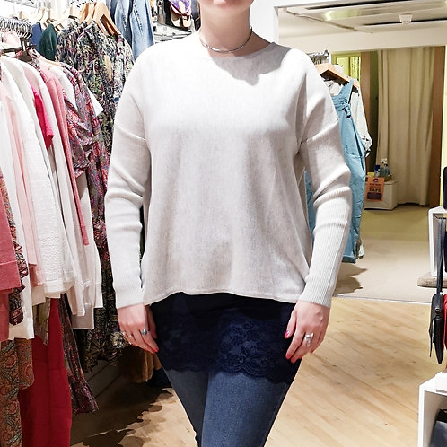 GINGER TOBY Short Button Knit - Silver