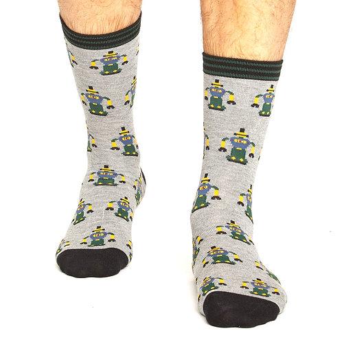 THOUGHT Men's Robot Bamboo Socks