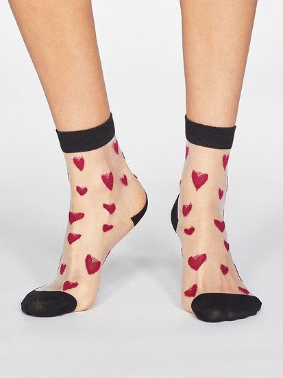 THOUGHT Heart Sheer Socks