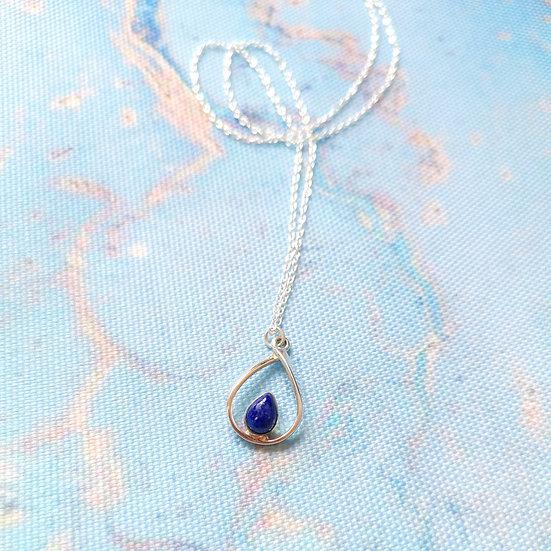 SIREN Lapis Pear Drop Necklace