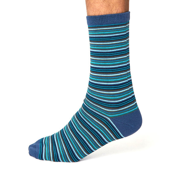 THOUGHT Men's Striped Bamboo Socks