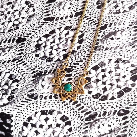 MY DORIS Turquoise Mandala Necklace