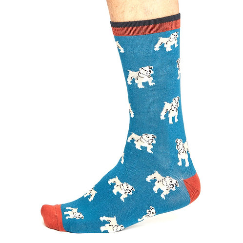 THOUGHT Men's Dog II Bamboo Socks