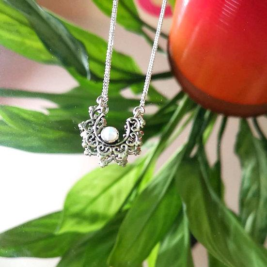 MY DORIS Moonstone Mandala Necklace