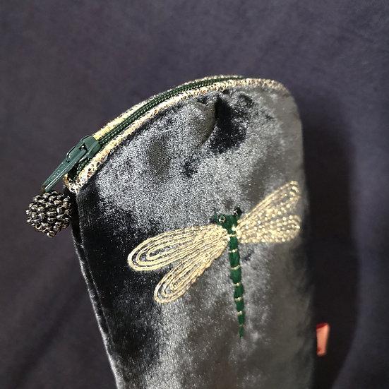 LUA Velvet Dragonfly Glasses Pouch