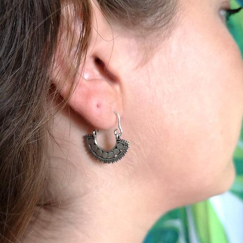 MY DORIS Fan Hoop Earrings