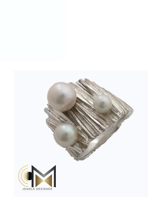 Anello lastra e perla