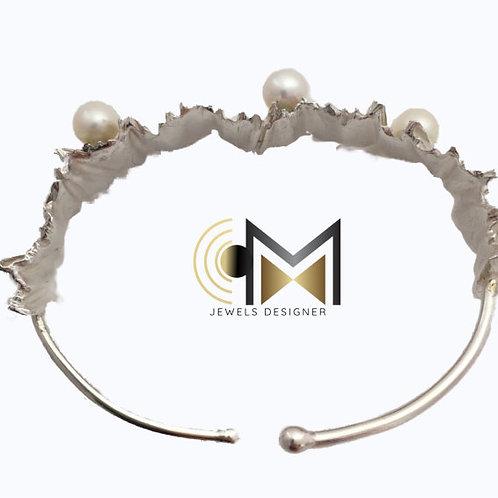 Bracciale lastra perla