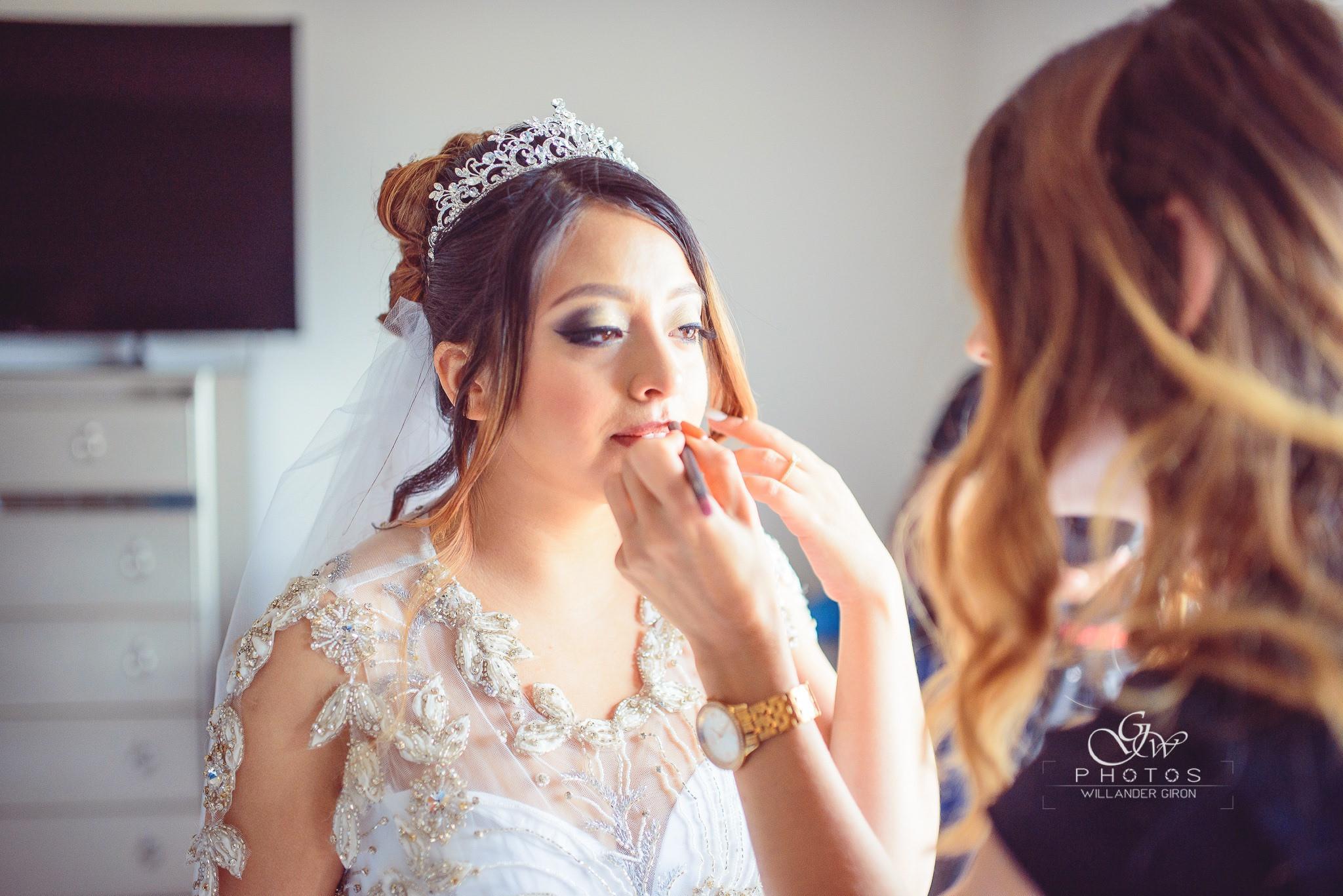 On-Site Bridal Makeup Application