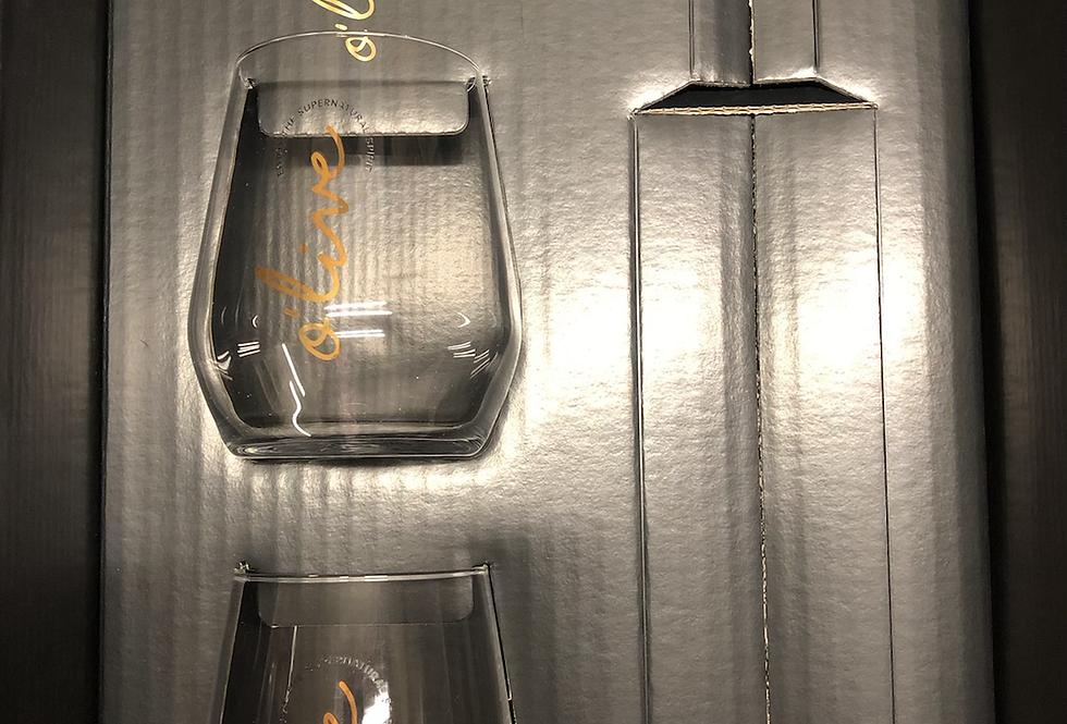 Olive Cadeaubox met 2 glazen