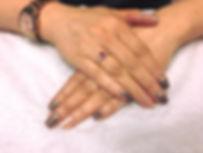 gelish nails glitter