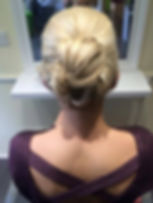 blonde hair up