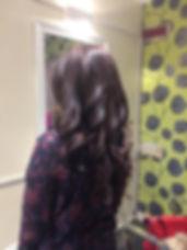 brunette bouncy blowdry