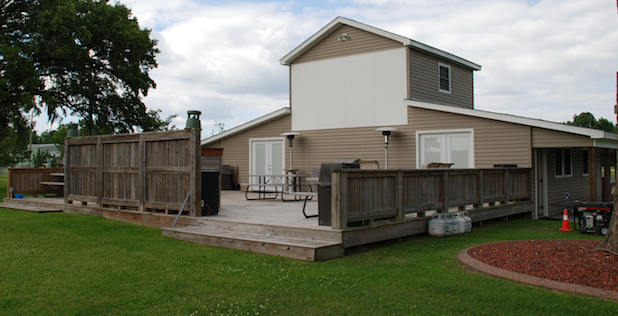 Rally Point Rear Deck, Grill and Outdoor Movie Theatre