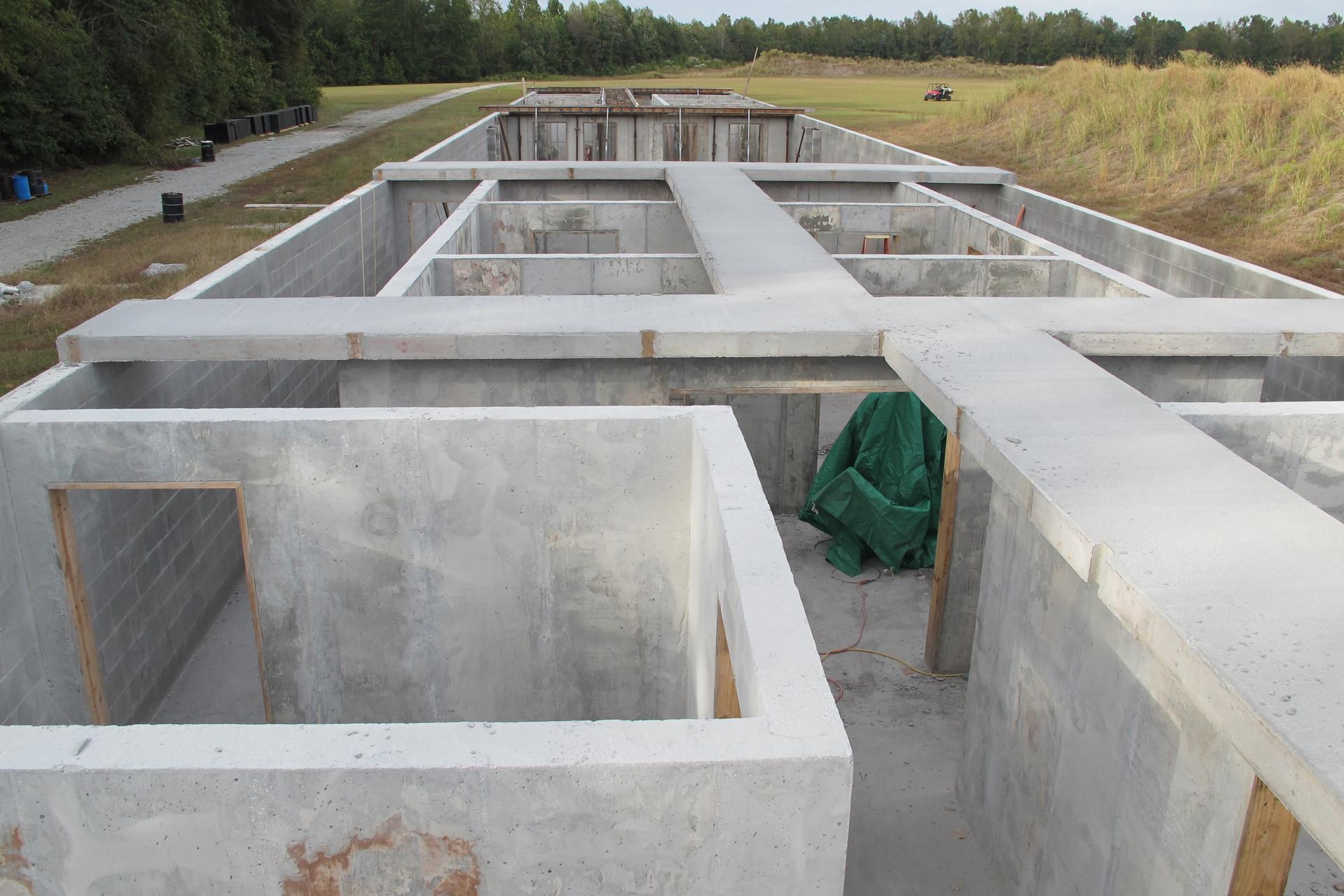 Poured Concrete over Rebar Construction