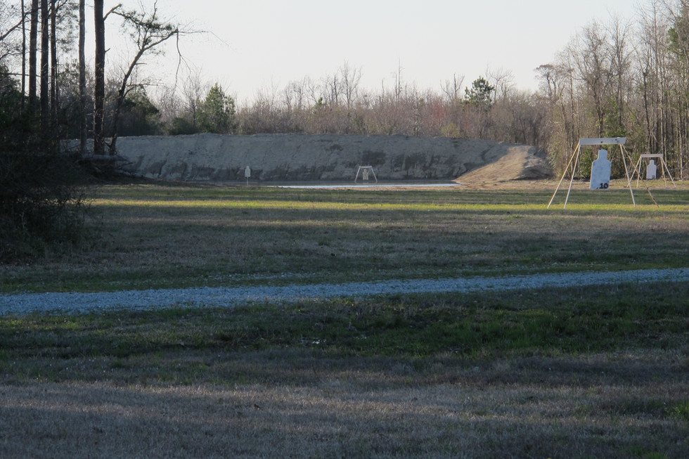 SRTTC targets in front of 1100 yard berm