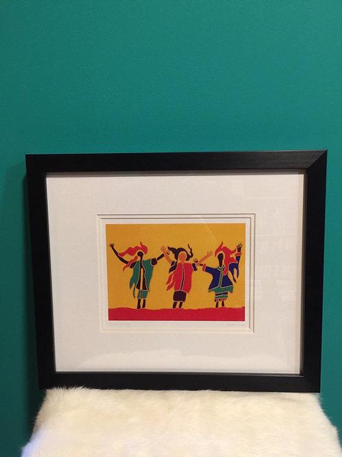Sunshine Sisters framed card