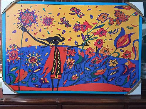 Wild Exuberance  canvas print