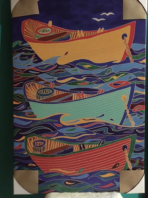 Three Dories canvas print