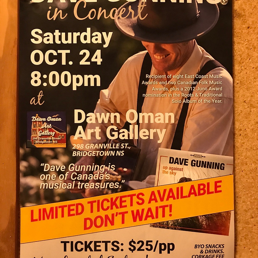 House Concert with Dave Gunning