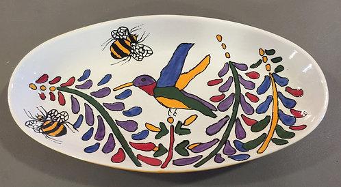 "#3 Hummingbird platter 11"" x 4"""