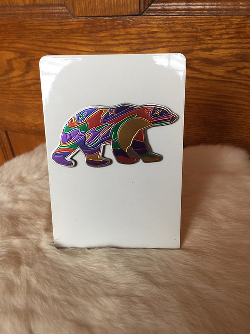 Metallic Alpha Bear Magnet