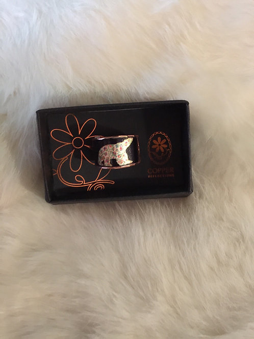 Spring Bear adjustable copper ring
