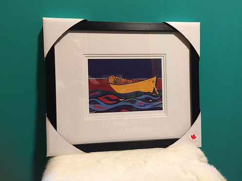 Yellow Dory framed Card