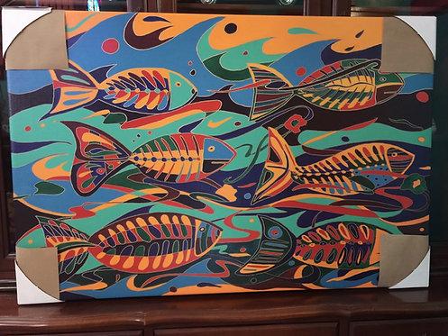 Fish Under  Water  canvas print