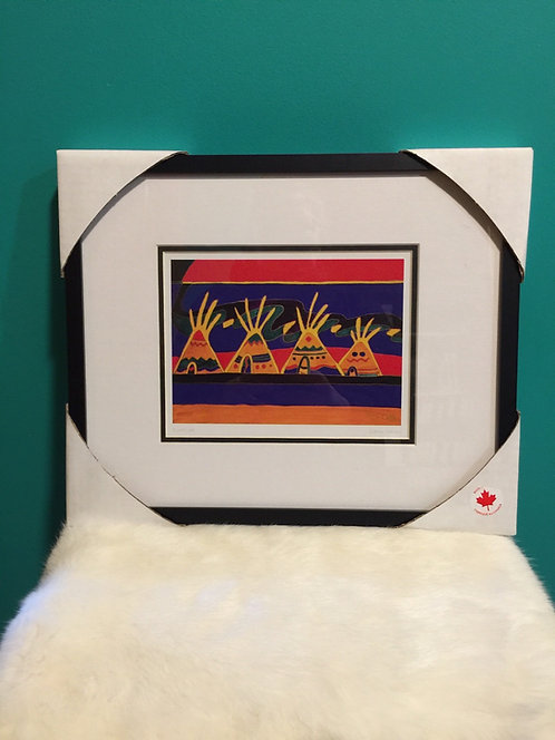 Riverside framed card