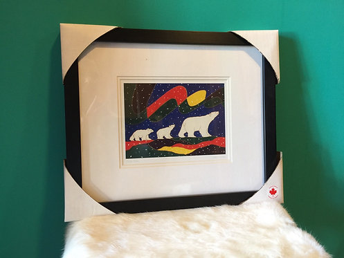 Three Bears framed card