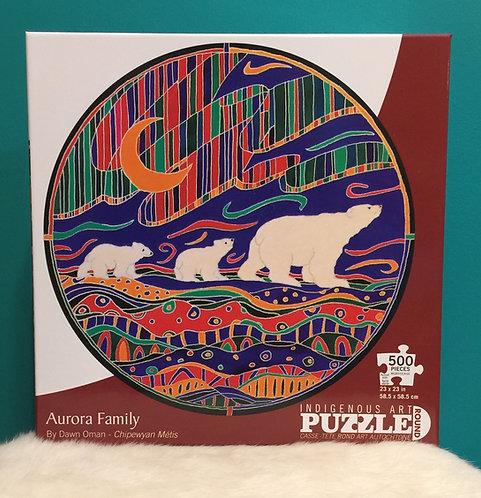 Aurora Family 500 piece puzzle