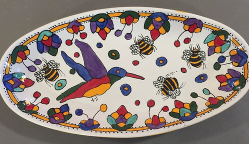 "#1 Hummingbird Platter 11"" x 4"""