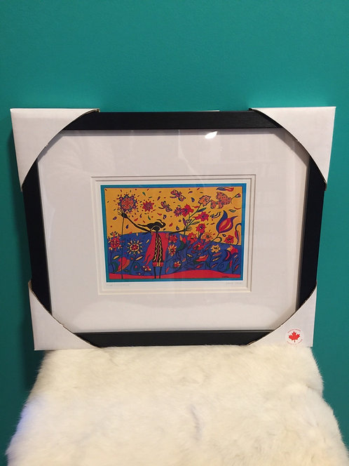Wild Exuberance  framed card